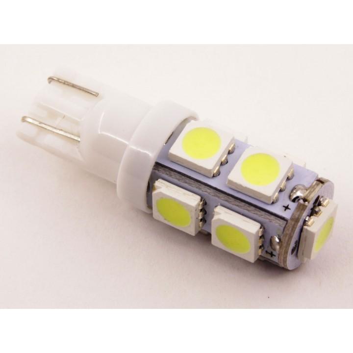 Светодиод T10 (W5W) - 5050 9 SMD (White)  24V